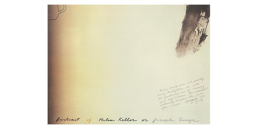 Portrait of Helen Keller or Joseph Beuys