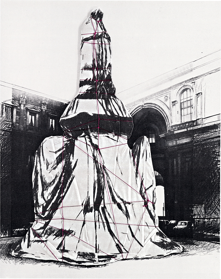 Christo and Jeanne-Claude - Wrapped Monument to Leonardo