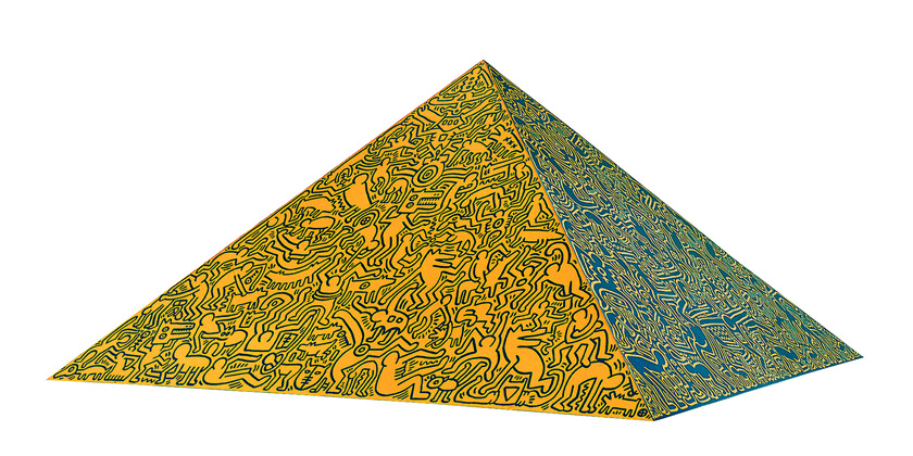 Keith Haring - Pyramid Sculpture
