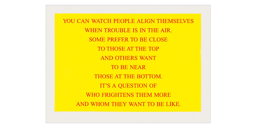 Jenny Holzer - Selection from Living 1980-82