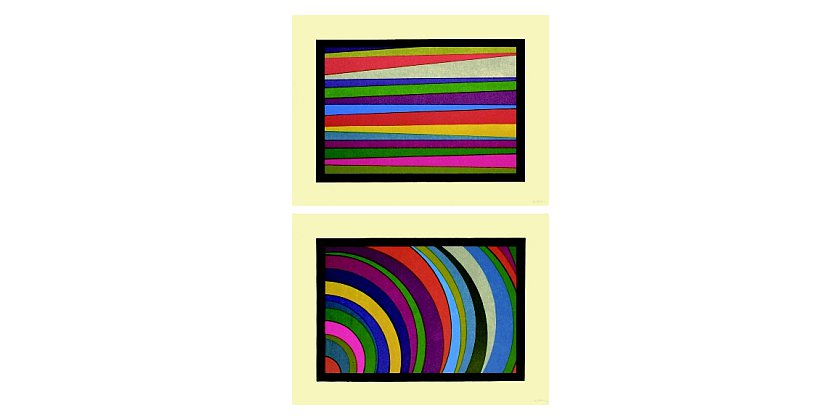 Sol LeWitt - Irregular Horizontal Color Bands...