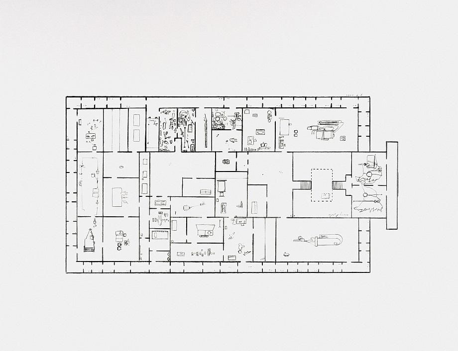 Provisional Floor Plan: Self Portrait</br>as a Building 7-5-2002