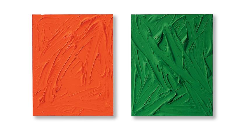 Gerhard Merz - Orange und Grün