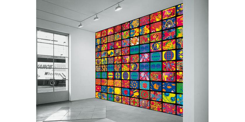 Nam June Paik - Computerized One Hundred Flowers