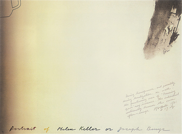 Portrait of Helen Keller or Joseph Beuys