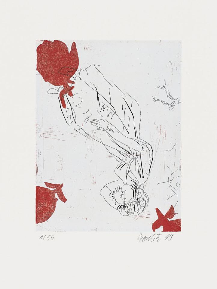 Georg Baselitz - Melancholie, drei Rosen