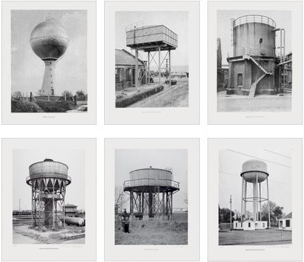 Sechs Wassertürme
