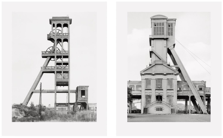 Zwei Fördertürme 1967