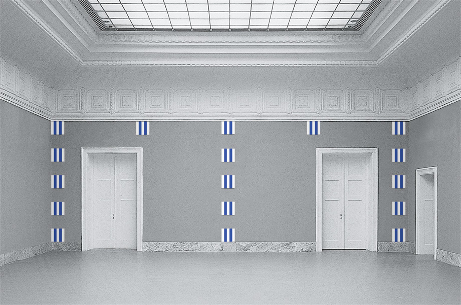 Daniel Buren - Twenty-Five Enamel Plates