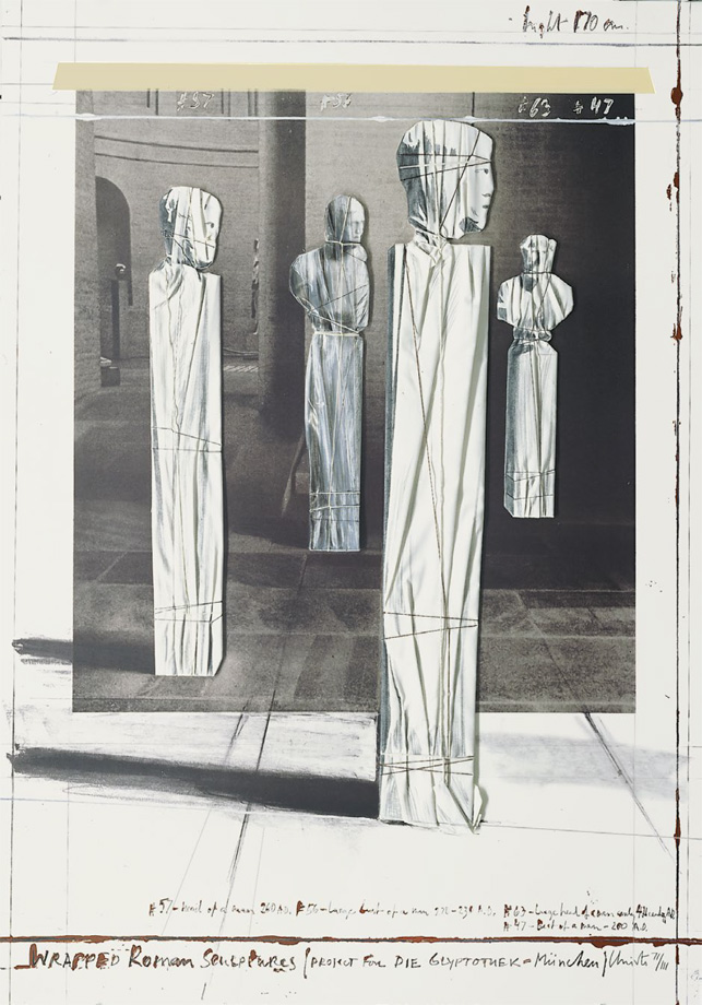 Christo and Jeanne-Claude - Wrapped Roman Sculptures