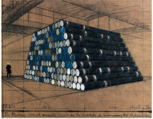 Christo and Jeanne-Claude - The Mastaba - 1240 Oil Barrels