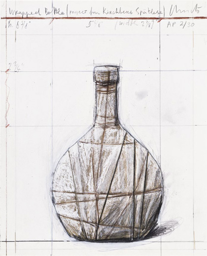 Christo and Jeanne-Claude - Wrapped Bottle...