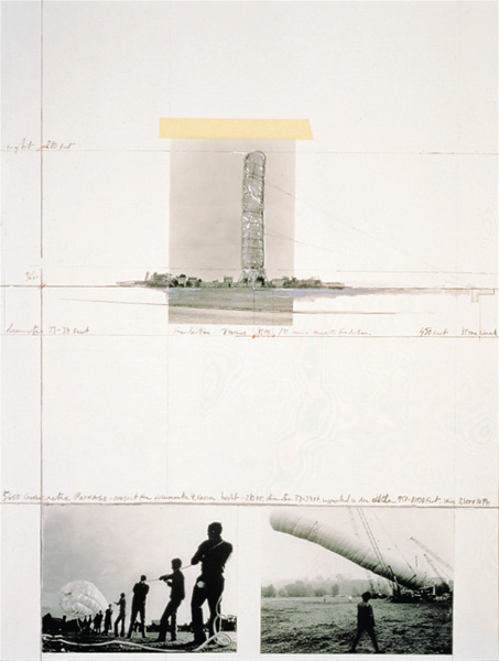Christo and Jeanne-Claude - 5600 m³ Package, Project for Documenta 4, Kassel