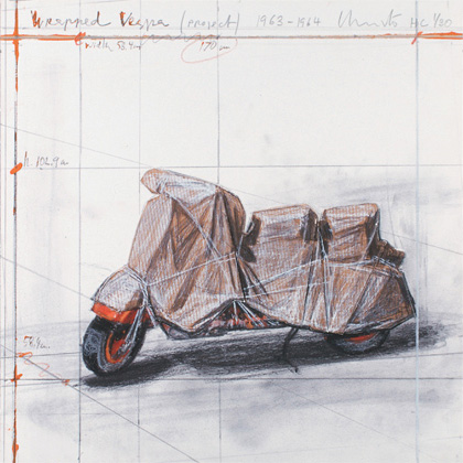 Christo and Jeanne-Claude - Wrapped Vespa