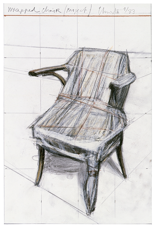 Christo and Jeanne-Claude - Wrapped Chair (Project)