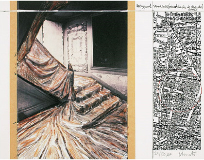 Christo and Jeanne-Claude - Wrapped Staircase, Project for Rue de Paradis, Paris