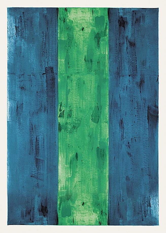 Günther Förg - Blau, grün, blau