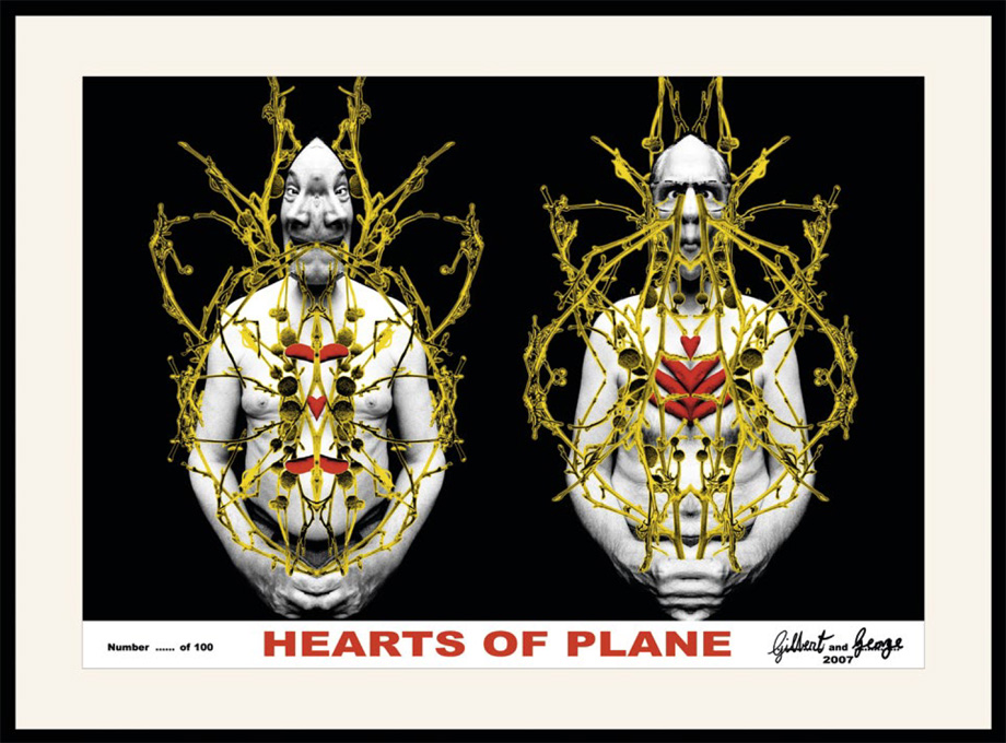Gilbert and George - Hearts of Plane