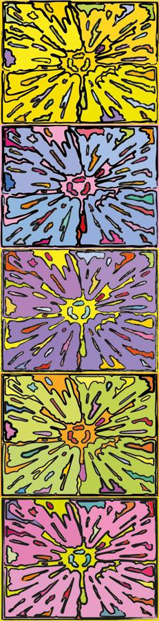 Peter Halley - Cartoon Explosion