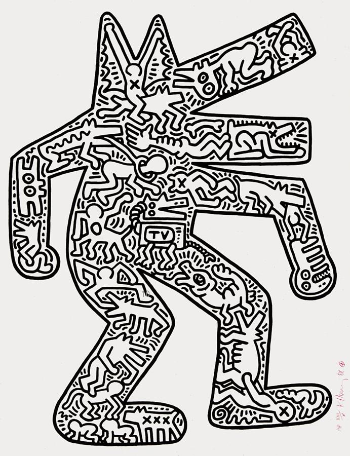 Keith Haring - Dog [print]