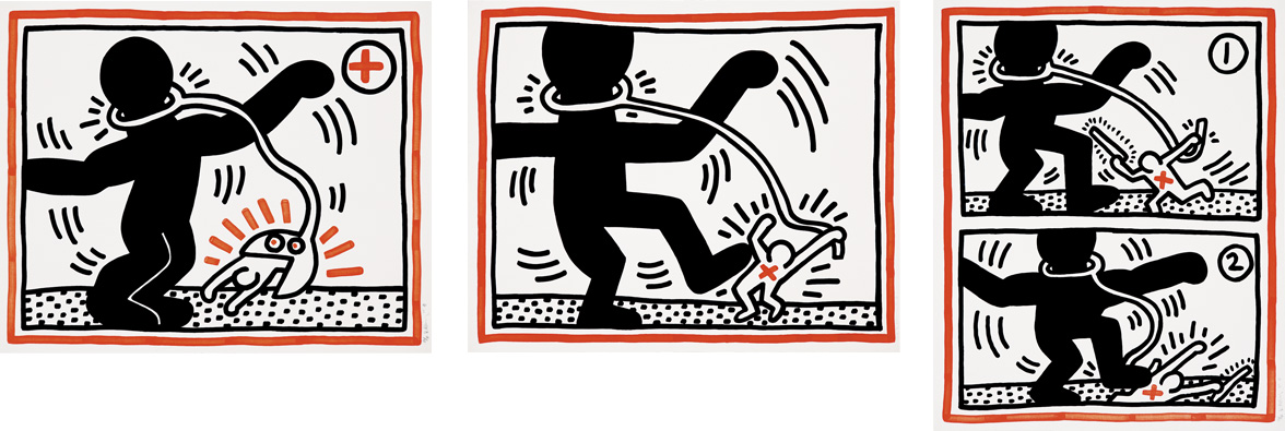 Keith Haring - Untitled (Free South Africa)