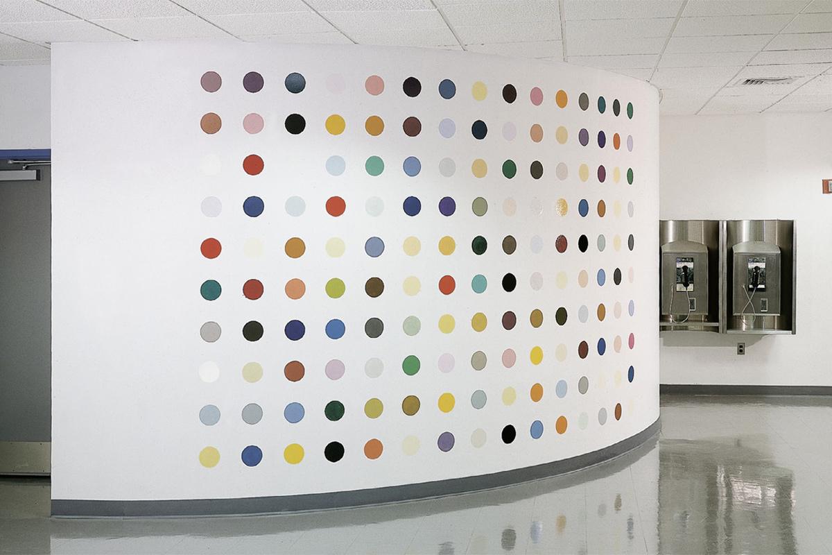Damien Hirst - Pharmaceutic Wall Painting, Five Blacks