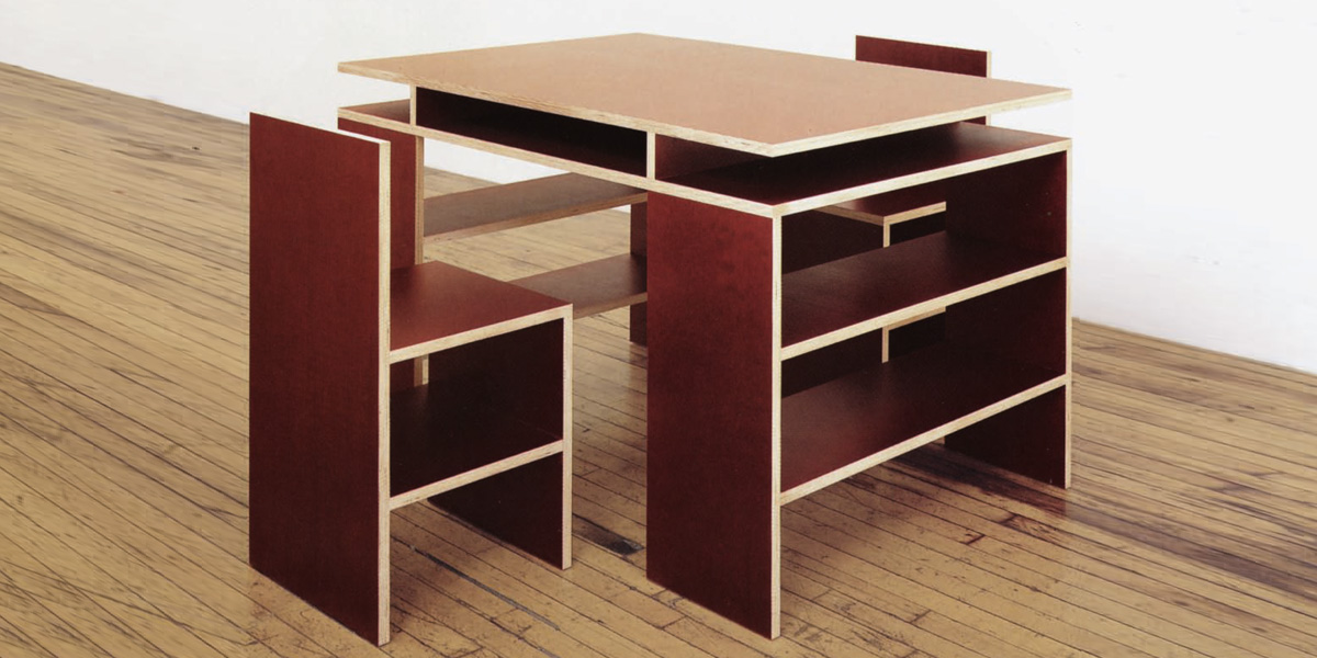 Donald Judd - Desk and Two Chairs