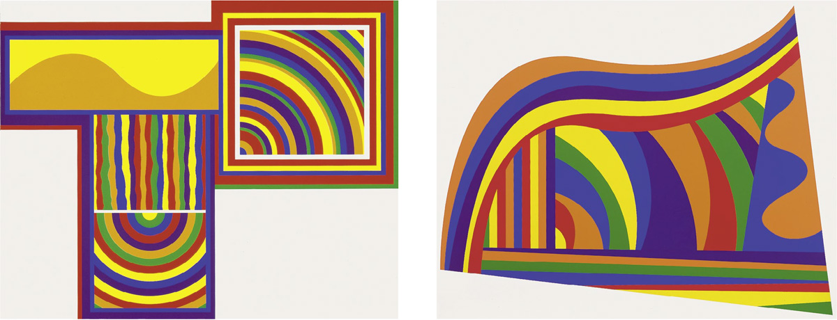 Sol LeWitt - Arcs and Bands in Colors 1 and 2