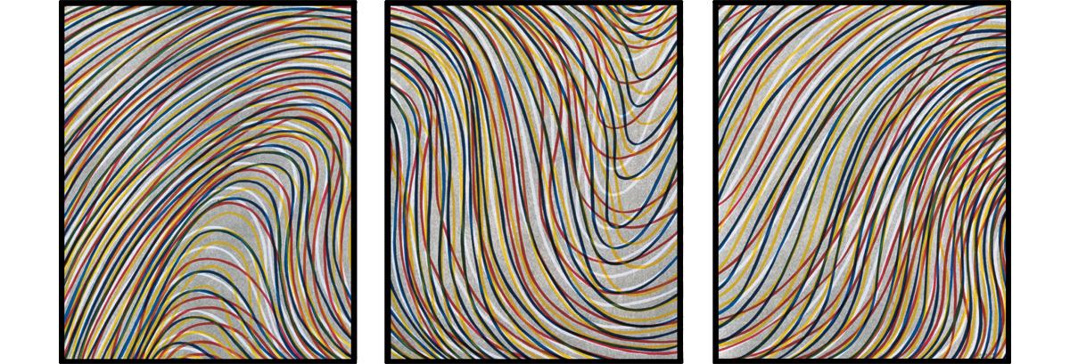Sol LeWitt - Wavy Lines on Gray