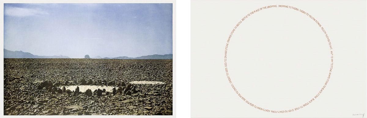 Richard Long - Two Sahara Works