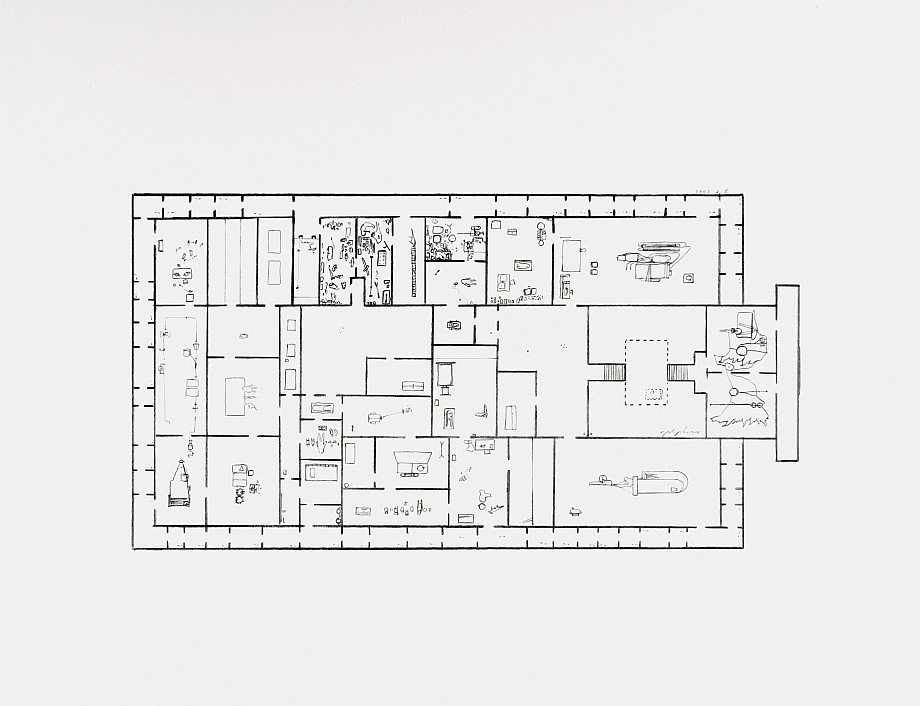 Provisional Floor Plan: Self Portrait</br>as a Building 7-5-2002