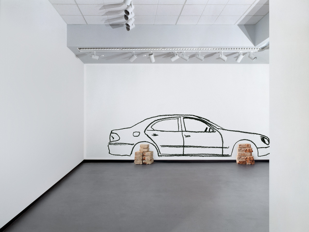Robin Rhode - Car on Bricks