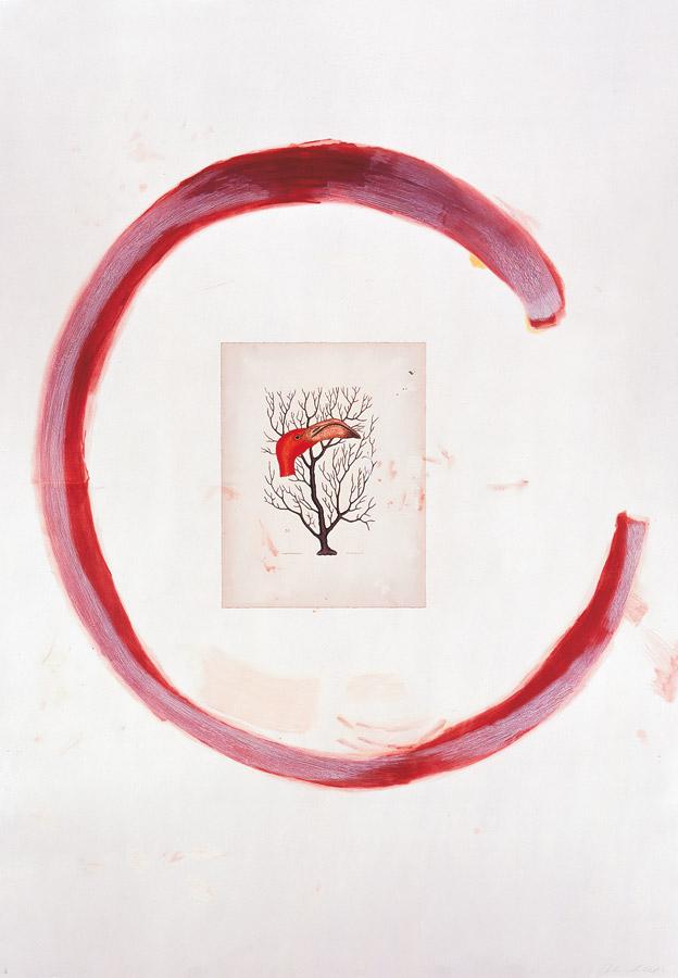Julian Schnabel - Flamingo II