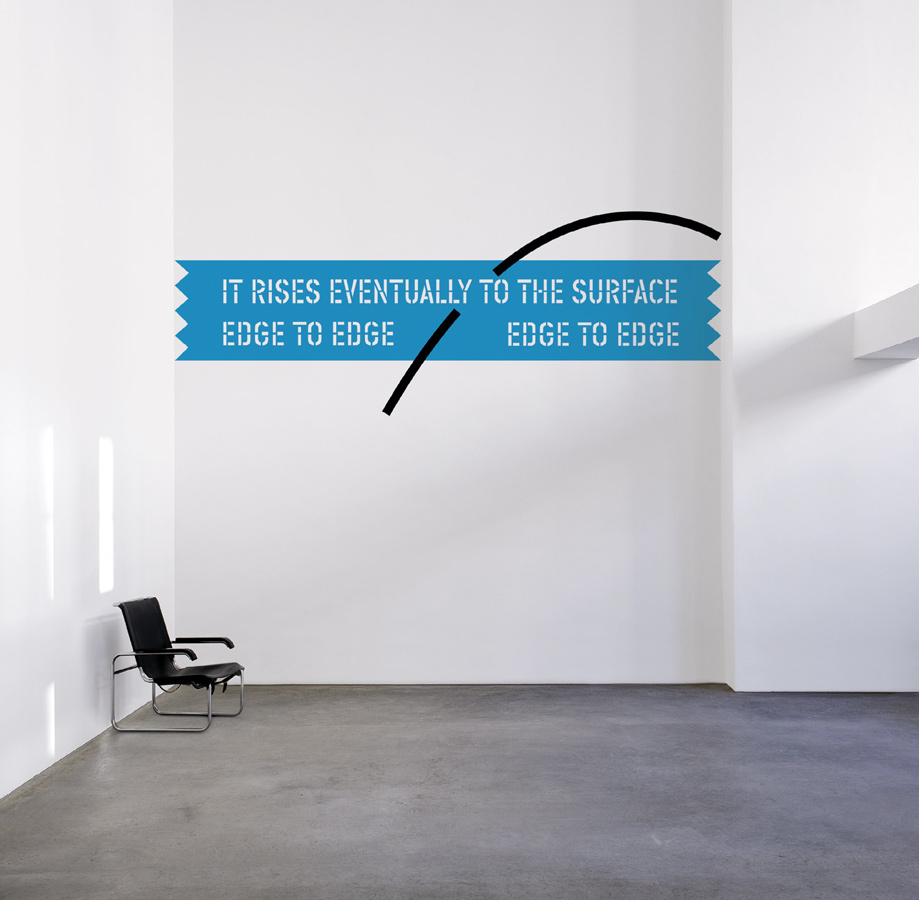 Lawrence Weiner - Aphorism-Archimedes