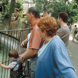 Family in Antwerp Zoo